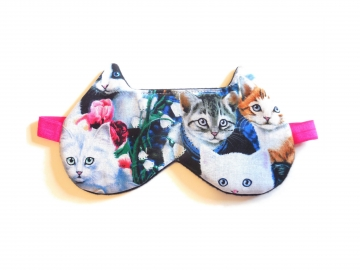 languor cat faces sleeping eye masks