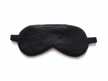 solid black basic sleep mask