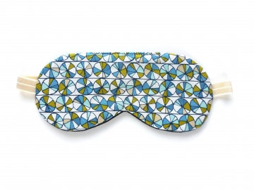 Organic Cotton Adjustable Sleep Mask, Mosaic Blue
