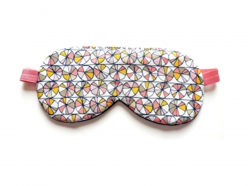 Organic Cotton Adjustable Sleep Mask, Mosaic Peach