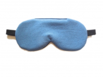 Adjustable Organic Cotton Sleep Mask, Vintage Blue