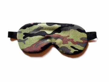Camo Sleep Mask, Olive Woodland