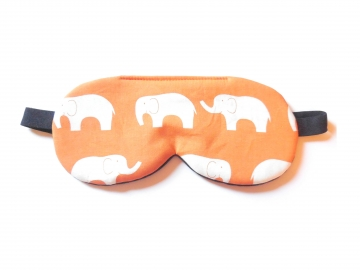 Elephant Organic Cotton Sleep Mask, Orange