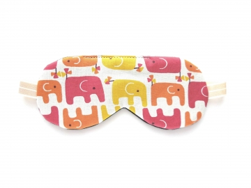 Elephant Organic Cotton Sleep Mask, Cream