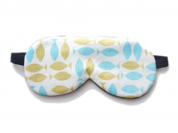 Organic Cotton Sleep Mask, Fish Print