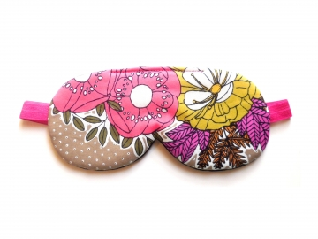 Floral Organic Cotton Sleep Mask, Adjustable