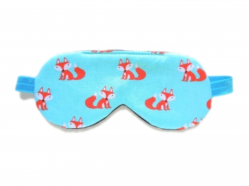 Foxes Sleep Mask, Turquoise