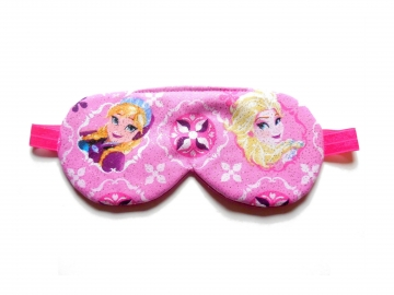 Sleep Mask, Pink Glitter Frozen