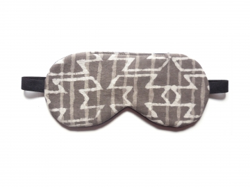 Batik Sleep Mask, Brown/gray