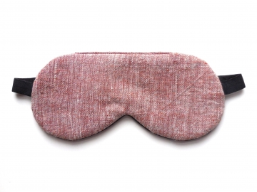 Organic Cotton Adjustable Sleep Mask, Brown Chambray