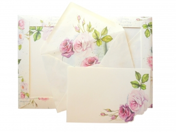 10 Cards + Envelopes, 4x6, Roses