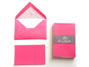 10 Cards + Envelopes, 3x5, Fuchsia, G. Lalo
