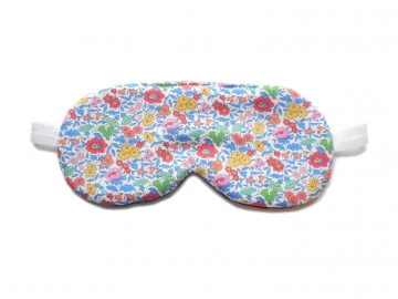 Floral Sleep Mask, White