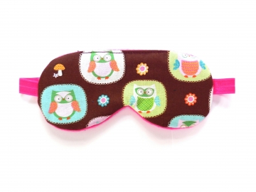 Owls Sleep Mask, Brown