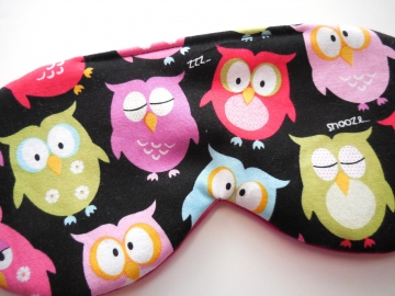 Owls Sleep Mask, Black