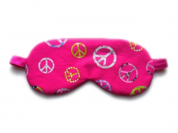Peace Organic Cotton Sleep Mask, Adjustable
