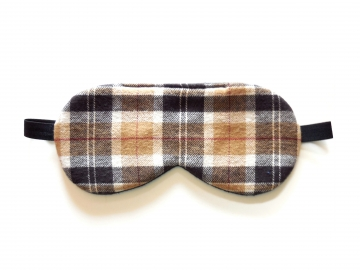Brown Plaid Sleep Mask