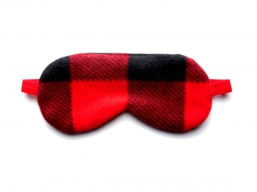Adjustable Sleep Mask, Red Buffalo Plaid