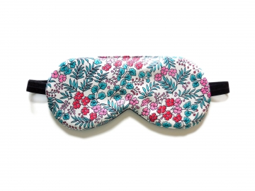 Floral Silk Sleep Mask, Adjustable