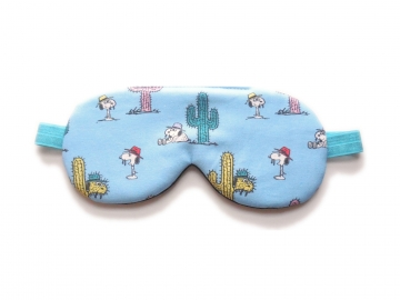 Sleep Mask, Snoopy and Cacti