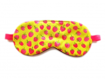 Strawberries Organic Cotton Sleep Mask