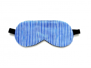 Stripes Organic Cotton Sleep Mask, Blue/white